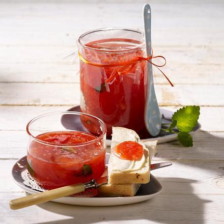 Blutorangenmarmelade mit Aperol und Zitronenmelisse Rezept