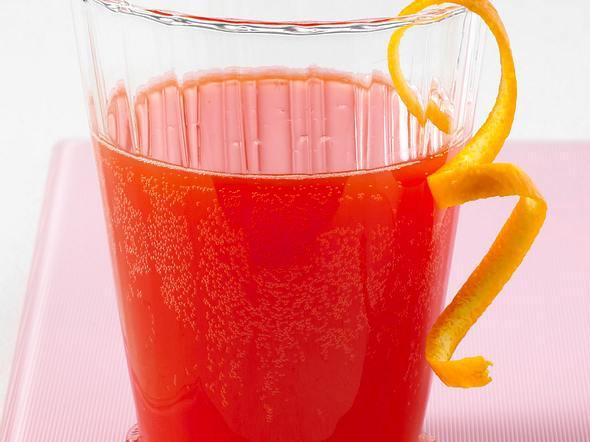 Blutorangensaft mit Zitronenlimonade Rezept