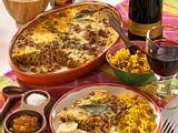 Bobotie (Hackfleischauflauf mit Curry, Mandeln und Früchten) Rezept