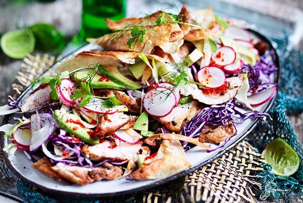 Bodylove-Salat  mit Hähnchenstreifen Rezept