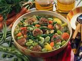Bohnen-Eintopf mit Kräuter-Mettbällchen Rezept