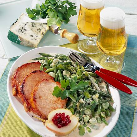 Bohnen in Gorgonzola-Soße Rezept