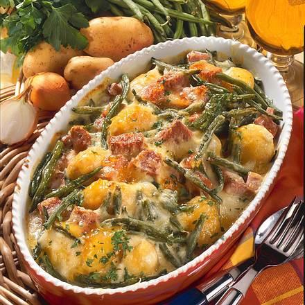 Bohnen-Kartoffel-Auflauf Rezept