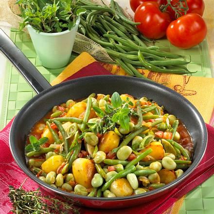 Bohnen-Kartoffel-Pfanne Rezept