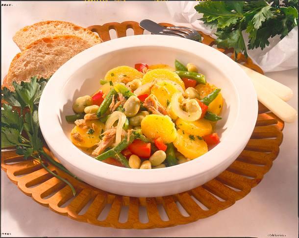 Bohnen-Kartoffel-Salat Rezept