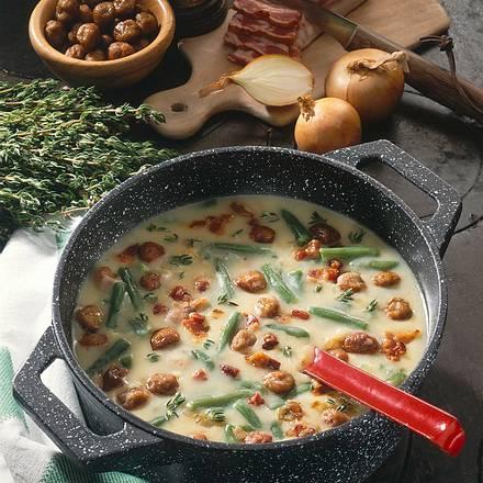 Bohnen-Kartoffelsuppe Rezept