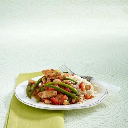 Bohnen-Putentopf zu Reis Rezept