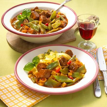 Bohnen-Rindfleisch-Topf Rezept
