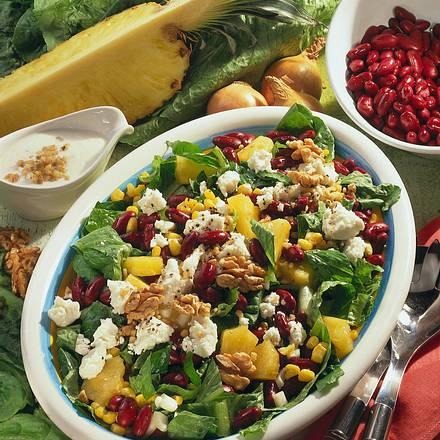 Bohnen-Salat mit Schafskäse Rezept