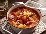 Bohnen-Suppe mit Mettenden Rezept