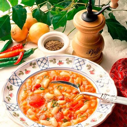 Bohnen-Tomatensuppe Rezept