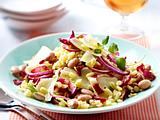 Bohnen-Weizen-Salat mit Schafskäse Rezept