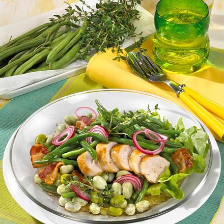 Bohnensalat mit Hähnchenfilet Rezept