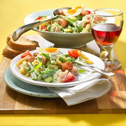 Bohnensalat mit Kasseler Rezept