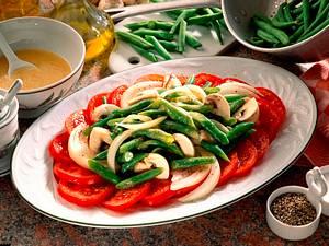Bohnensalat mit Senf- Vinaigrette Rezept