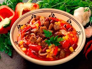 Bohnensuppe mit Hackfleisch Rezept