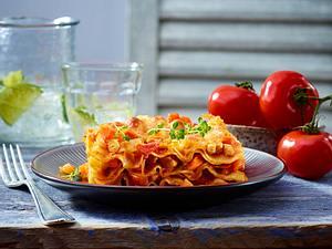 Bolognese-Lasagne mit Putenhackfleisch Rezept