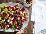 Bouquet von Blattsalaten mit Himbeervinaigrette Rezept