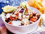 Bowl mit Ofengemüse und Linsen Rezept