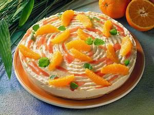 Brandteig-Orangentorte Rezept