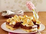 Brandteigtorte mit Schokocreme und Bananen Rezept