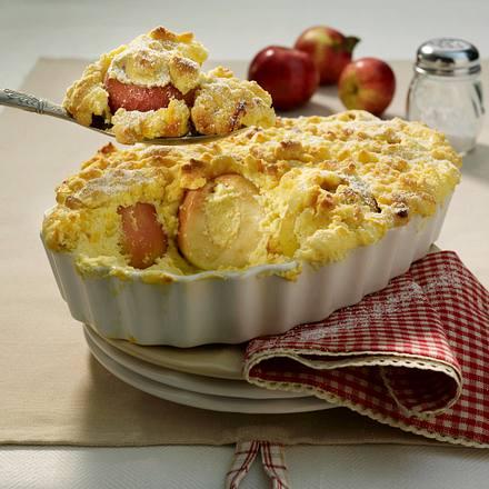 Bratapfel-Auflauf mit Butterstreuseln Rezept