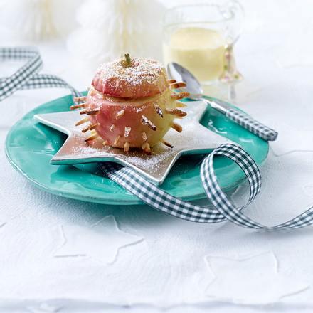 Bratapfel-Igel mit Marzipan Rezept