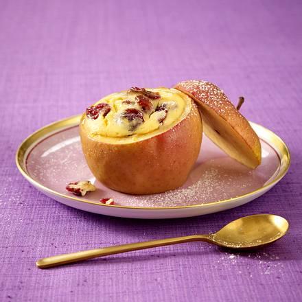 Bratapfel mit Cranberry-Käsekuchen-Füllung Rezept