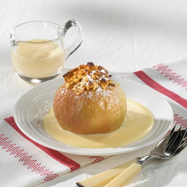 Bratapfel mit Marzipan-Nuss-Füllung Rezept