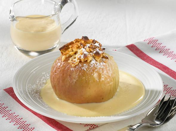 Bratapfel mit Nuss-Marzipan-Füllung Rezept