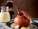 Bratapfel mit Vanillesoße Rezept