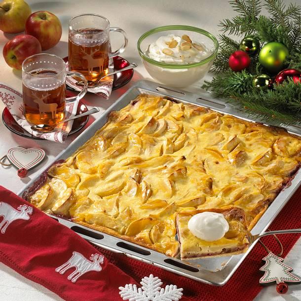 Bratapfelkuchen vom Blech Rezept