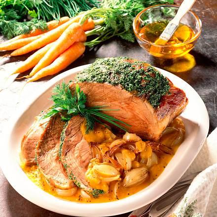 Braten in Gemüsesoße Rezept
