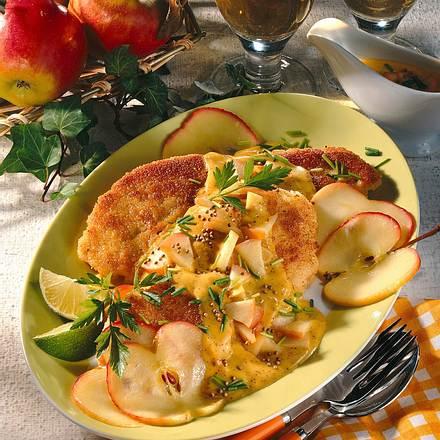 Bratfisch mit Apfel-Senfsoße Rezept