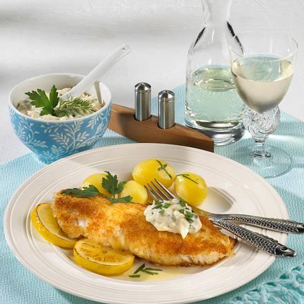 Bratfisch mit Kräuter-Senf-Remoulade Rezept