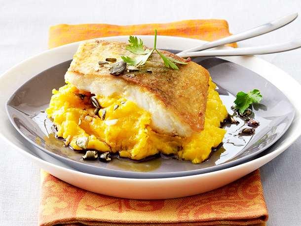Bratfisch mit Kürbispüree Rezept