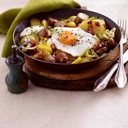 Bratkartoffel-Pfanne mit Spiegelei Rezept
