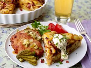 Bratkartoffelgratin zu Schnitzelchen Rezept