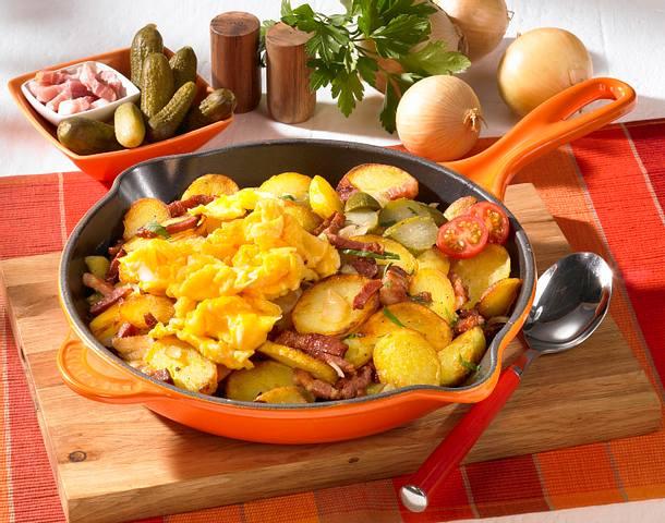 Bratkartoffeln mit Rührei Rezept