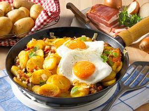Bratkartoffeln mit Spiegelei Rezept