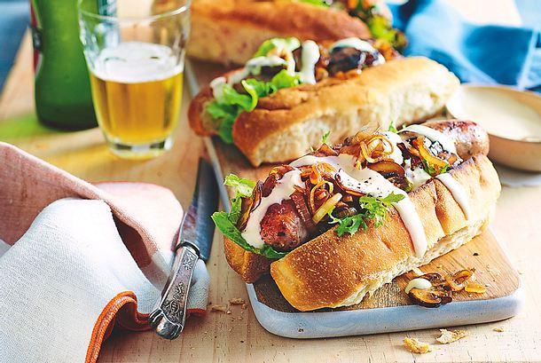 "Bratwurst-Sandwich ""Moneysaver"" Rezept"