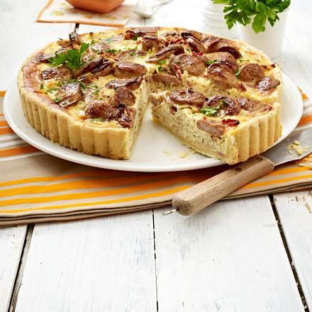 Bratwurst-Sauerkraut- Quiche Rezept