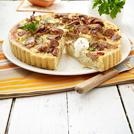 Bratwurst-Sauerkraut-Quiche Rezept