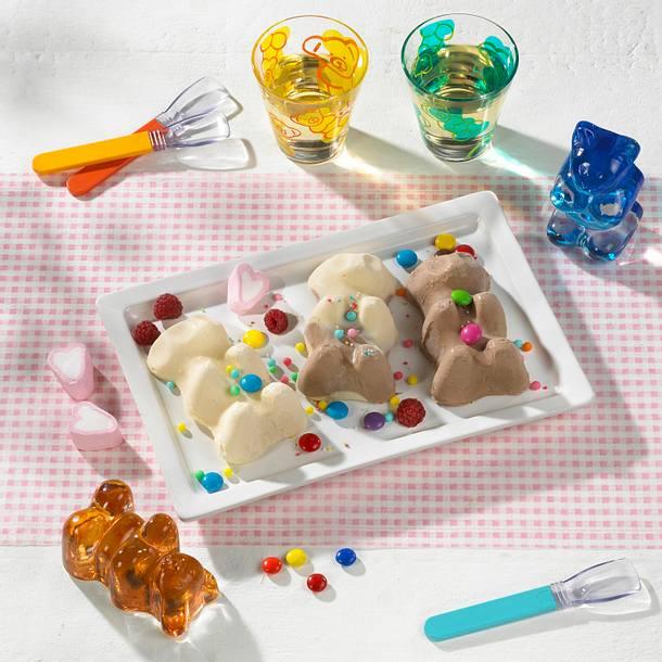 Braunbär und Eisbär Eis Rezept