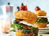 Breakfast-Muffin-Burger Rezept