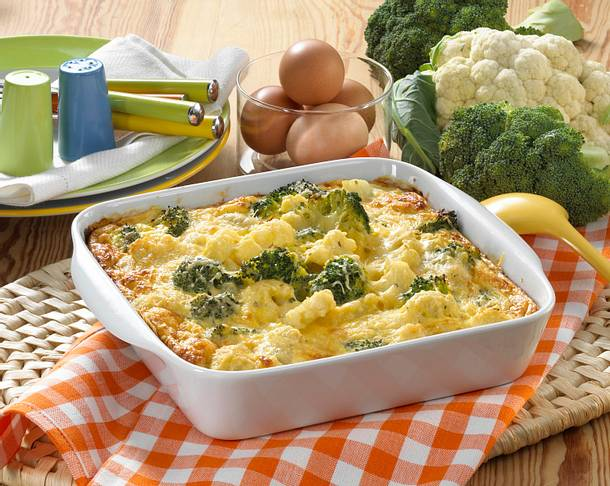Broccoli-Blumenkohl-Gratin Rezept