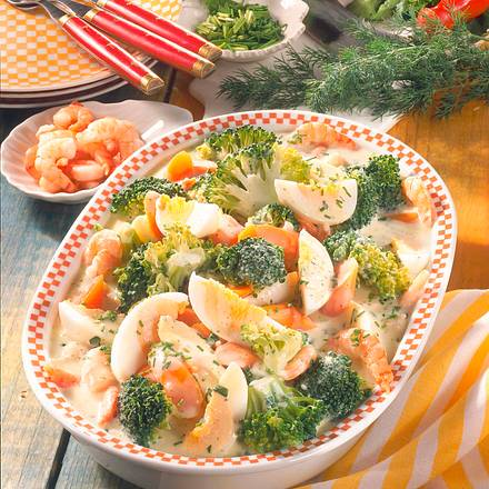 Broccoli-Ei-Ragout mit Krabben Rezept