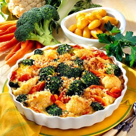 Broccoli-Gemüse-Gratin Rezept