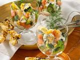 Broccoli-Lachs-Cocktail mit Knusperstangen Rezept