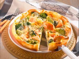 Broccoli-Quiche mit Räucherlachs Rezept